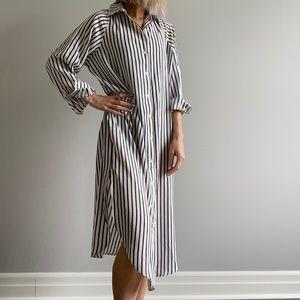 H&M | Stripped Blouse Dress ✨